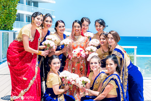 indian wedding photography,indian bridesmaids,bridal bouquets