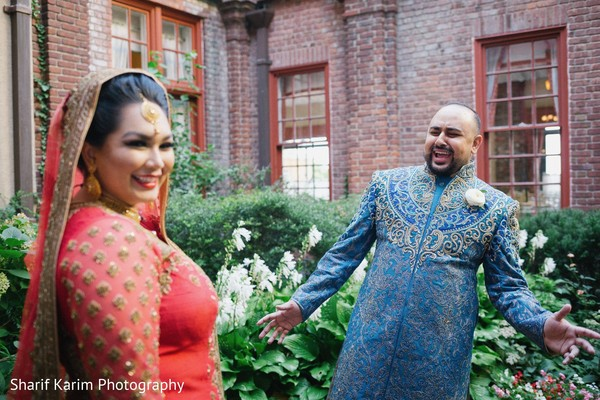 indian groom sherwani,indian bride fashion,first look photography