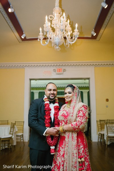 Marvelous indian wedding portrait in Long Island, NY South Asian Wedding by Karim Photo