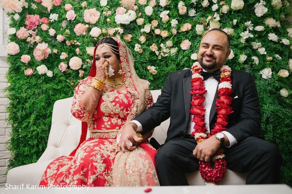 Sweet indian couple at their wedding reception in Long Island, NY South Asian Wedding by Karim Photo