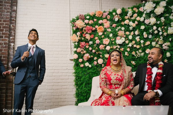 Indian groomsman giving a speech in Long Island, NY South Asian Wedding by Karim Photo