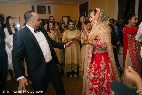 Lovely indian couple dancing at wedding reception party in Long Island, NY South Asian Wedding by Karim Photo