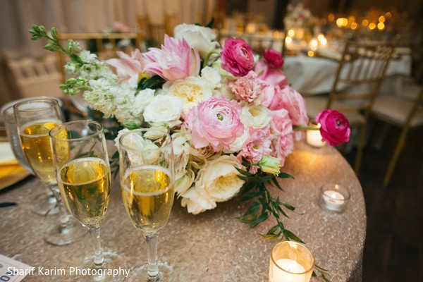 Indian wedding reception decor in Long Island, NY South Asian Wedding by Karim Photo