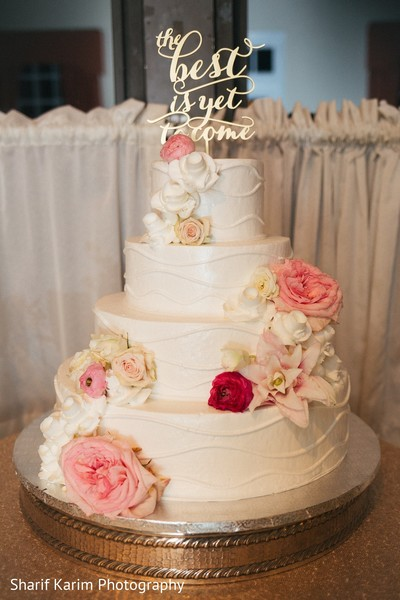 Marvelous indian wedding cake in Long Island, NY South Asian Wedding by Karim Photo