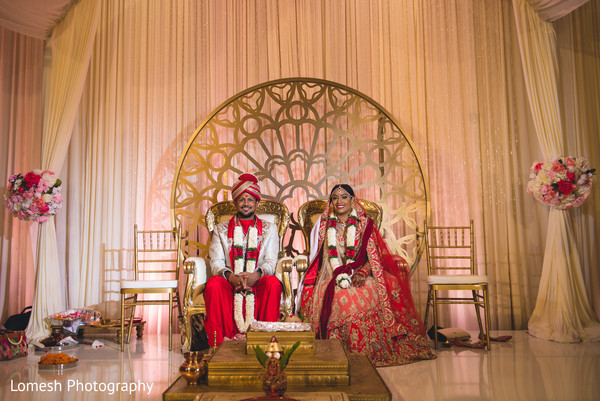 indian wedding ceremony,indian bride and groom portrait,indian wedding ceremony floral and decor