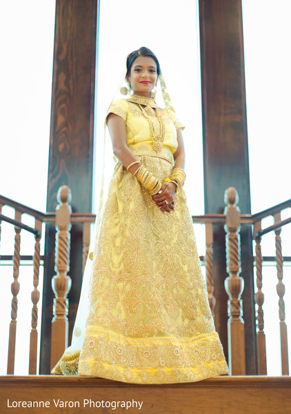 indian bride,yellow lengha,indian bridal fashion