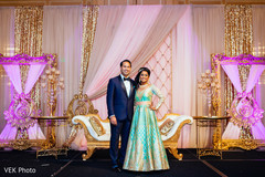 indian bride reception fashion,indian groom suit,indian bride and groom portrait
