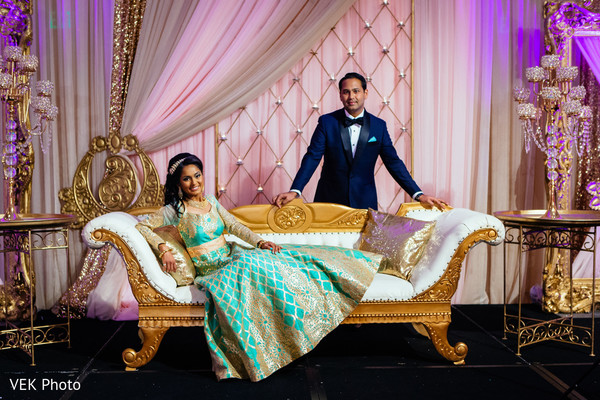 indian bride and groom portrait,indian groom suit,indian bride fashion