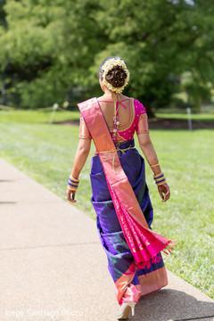 indian bride,indian bridal,indian bridal portrait,first look,bridal first look,sari,sari bride