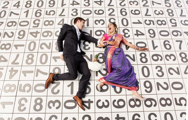 Indian couple pre-wedding portrait