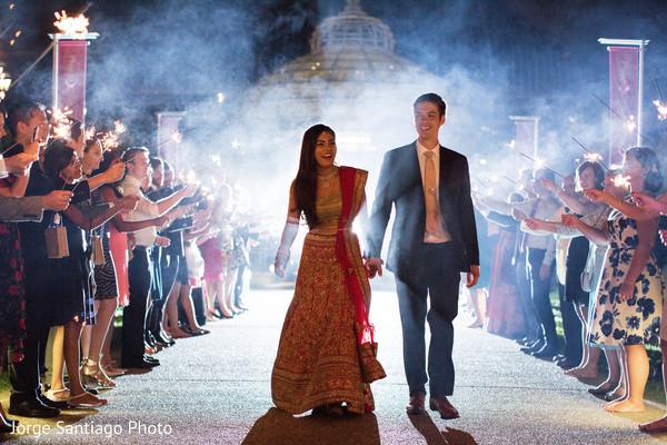 sparklers,reception exit,fusion wedding reception,indian fusion reception,fusion wedding decor,indian fusion reception decor,fusion reception
