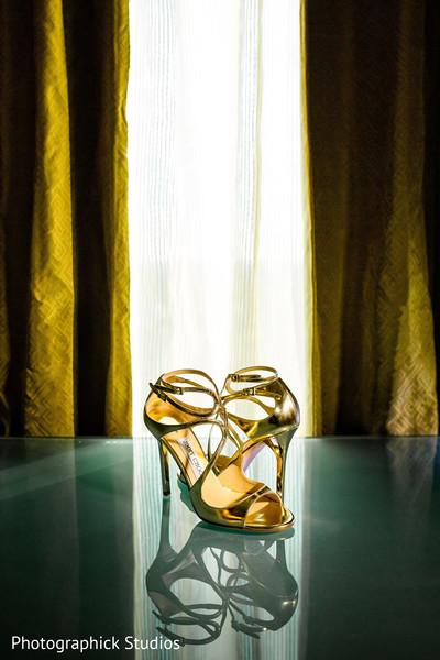 Glamorous indian bridal shoes.