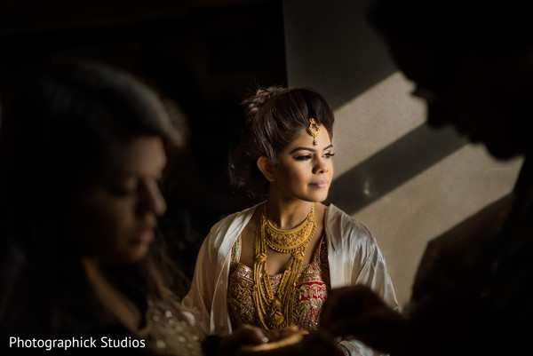 Indian bride almost ready for her big day.