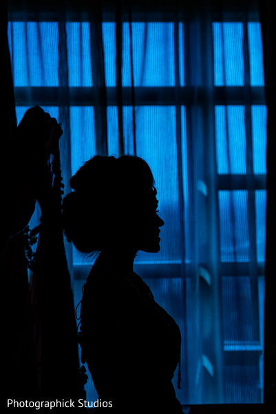 Indian bride Silhouette photography.