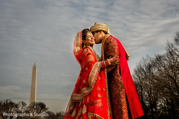 Romantic Indian wedding photography.