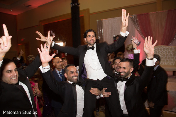 indian wedding reception,indian groom,groomsmen