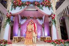 Sweet indian bride and groom portrait