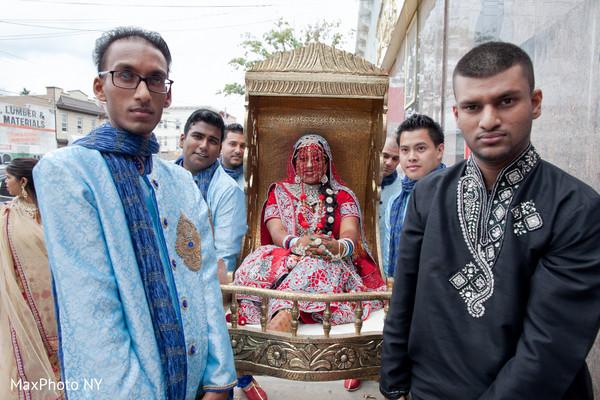 indian bride,indian groomsmen,palanquin,indian wedding ceremony