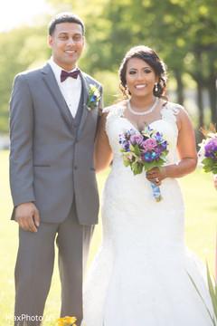 indian bride,white wedding dress,indian groom,indian wedding photography