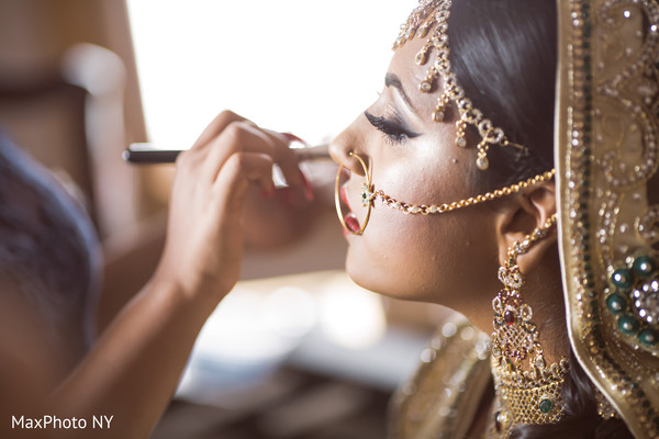 indian bride,getting ready,bridal hair and makeup