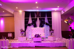 indian wedding reception,lightning,wedding stage