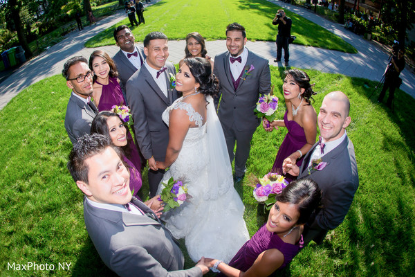 indian groomsmen,indian bridesmaids,indian bride and groom