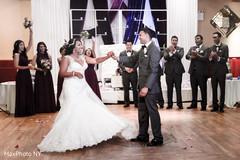 indian bride and groom,dj,indian wedding reception