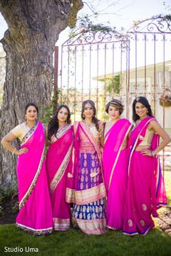 indian bride lengha,indian bridesmaids,indian bridesmaids' fashion