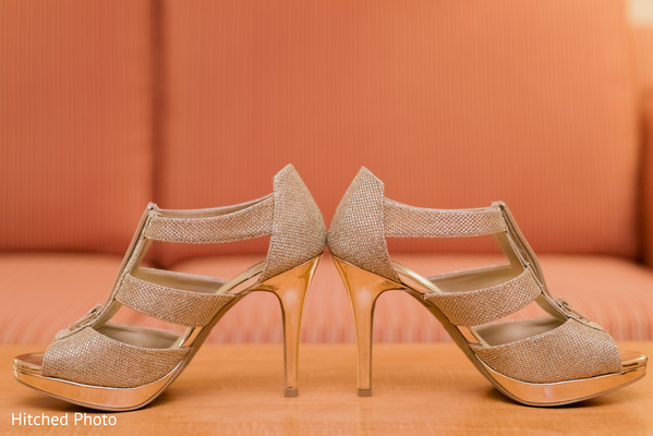 Indian bridal shoes photography.