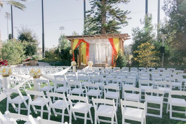 Dreamlike indian wedding ceremony set up.