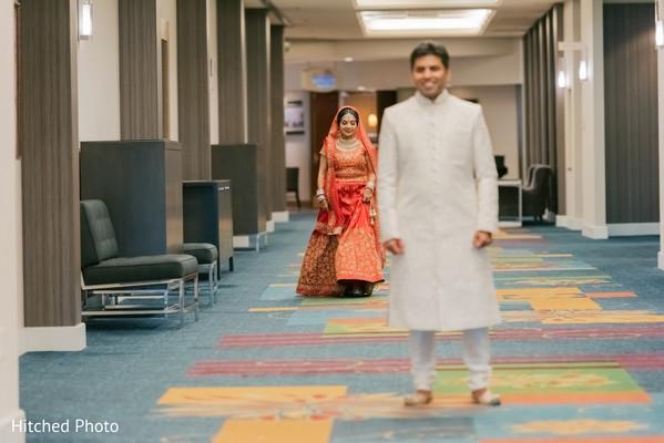 Indian wedding first look capture.