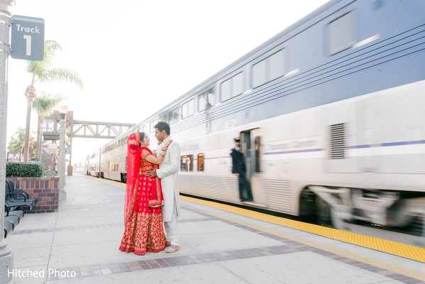 Creative indian bride and groom photography.