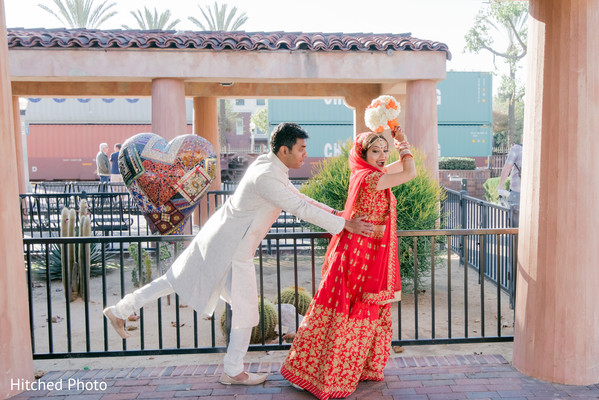Fun and heartfelt Indian bride and groom photo shoot.