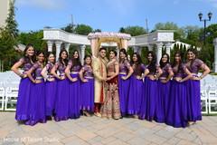 indian bridal party,indian bridesmaids' fashion,indian groom sherwani,indian bride lengha