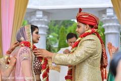 jai mala ceremony,indian wedding ceremony,indian groom sherwani,indian bride lengha