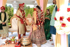 indian wedding ceremony,saptapadi ritual,indian bride lengha,indian groom sherwani