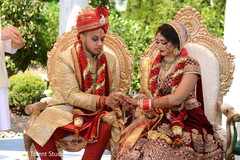 indian wedding ceremony,indian groom sherwani,indian groom turban,indian bride lengha