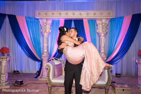 indian wedding reception,indian bride and groom,wedding stage