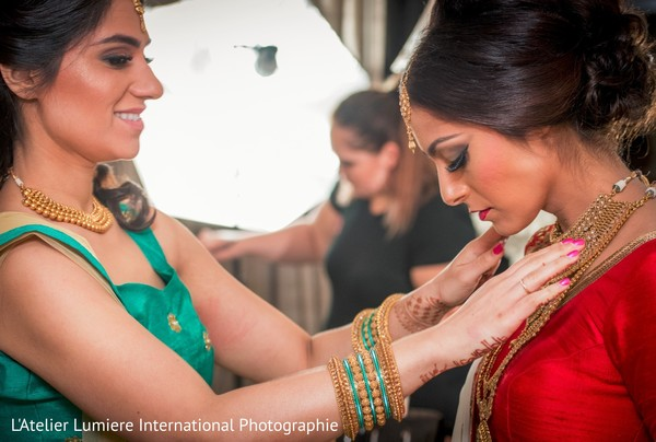 bridal jewelry,indian bride hair and makeup,indian bride,getting ready