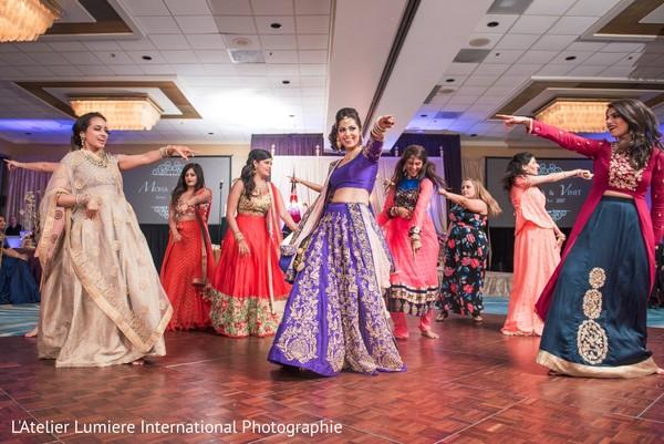 indian bride,indian wedding reception,choreography,dj