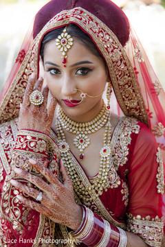 bridal lengha,red lengha,red and gold lengha