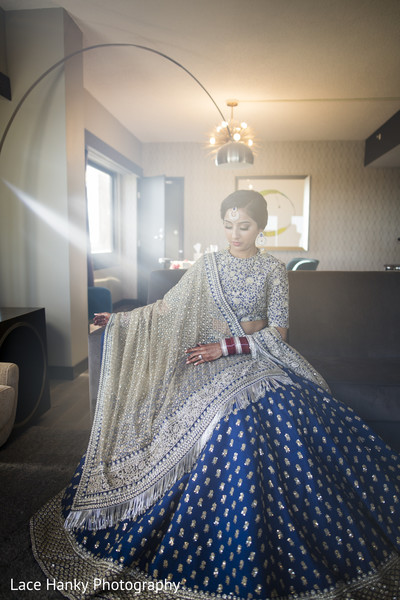 bridal lengha,blue lengha,bridal fashion