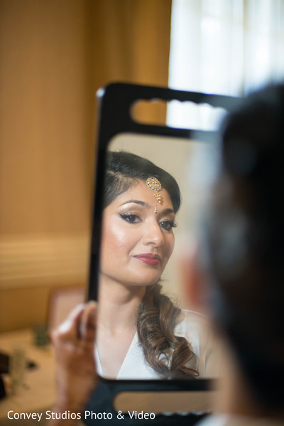 indian bride,getting ready,indian bride hair and makeup