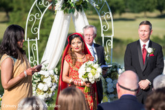 indian bride,indian groom,indian fusion wedding ceremony,floral and decor