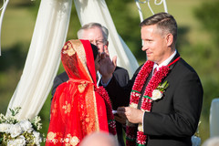 indian bride,indian groom,indian fusion wedding ceremony,sindhoor