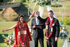 indian bride,indian groom,indian fusion wedding ceremony