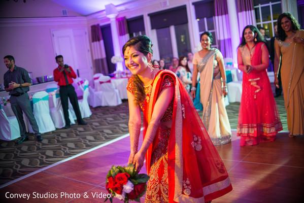 indian wedding reception,indian bride,bridal bouquet