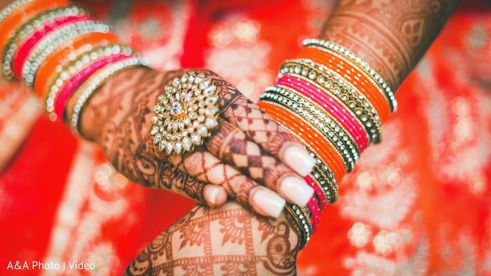 Gorgeous indian bride mehndi designs