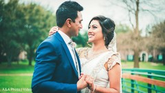 Lovely indian couple during their photo shoot