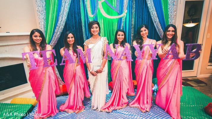 indian bride,indian bridesmaids